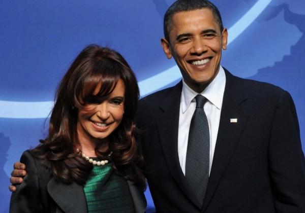 Кристина Фернандес де Киршнер и Барак Обама