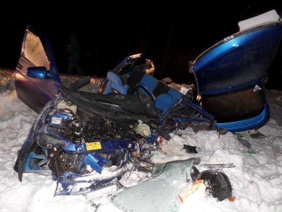 Авария, в которой погибли пять человек. Фото с сайта ГИБДД Чувашии