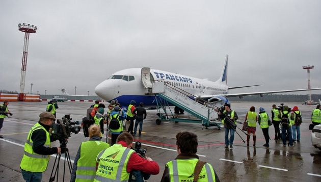 Самолет авиакомпании «Трансаэро».
