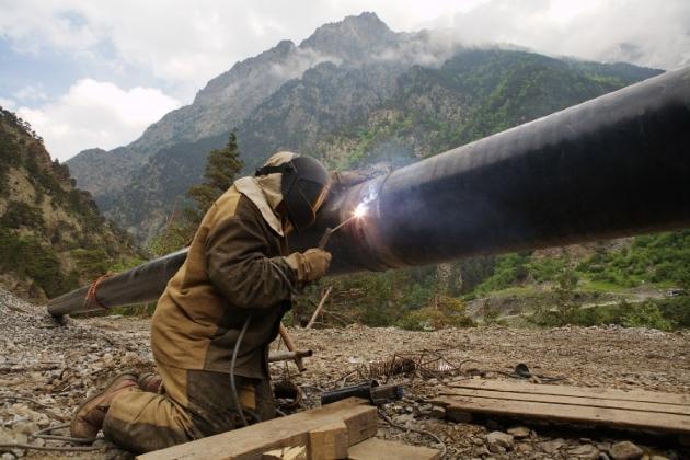 Кавказский высокогорный газопровод. Газпром.