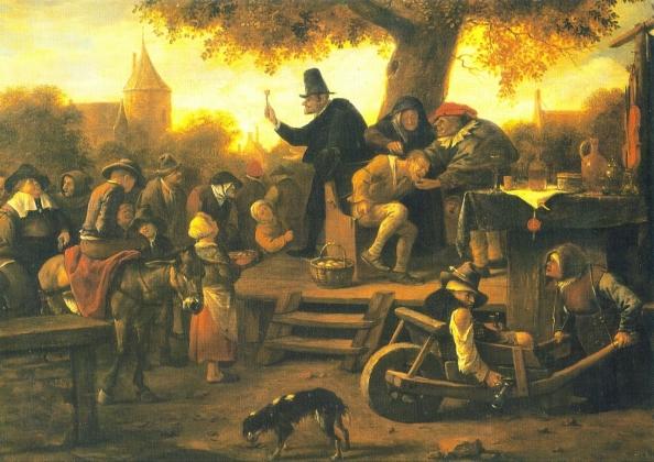 Шарлатанство. Картина. Художник Ян Штен (1626-1679)