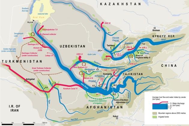 Вода к войне: Узбекистан, Казахстан, Туркмения vs Таджикистан и Киргизия