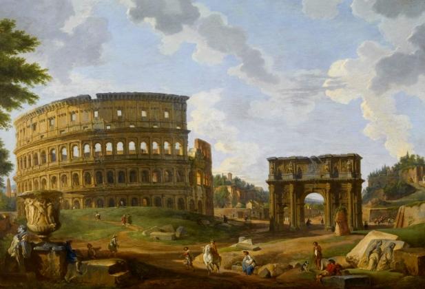 Джованни Паоло Панини. «Вид с Колизеем»
