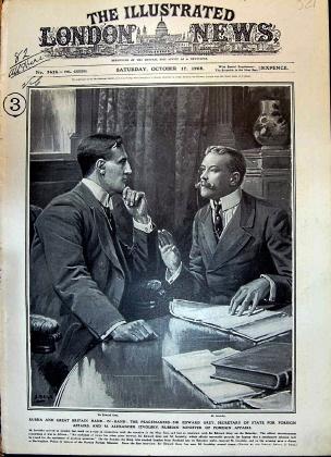 Александр Извольский (справа) и Эдвард Грей