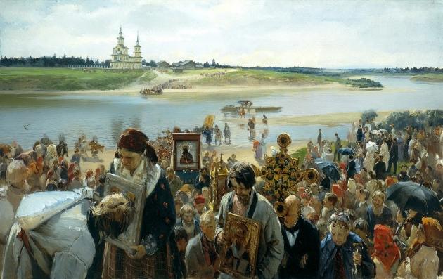 Илларион Прянишников. Крестный ход. 1893.