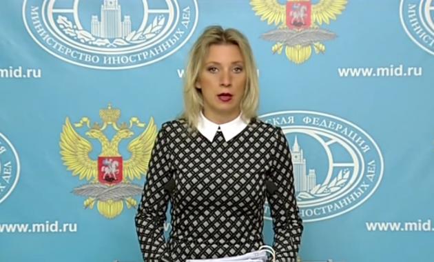 Мария Захарова— официальный представитель МИД России. Фото экрана: youtube.com