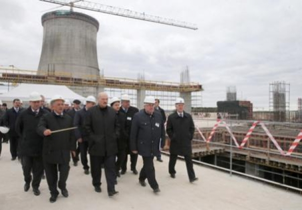 Рабочий визит Лукашенко А.Г. на строительную площадку Белорусской АЭС, 9 октбяря 2015 г