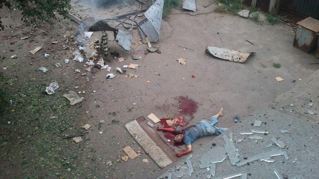«Антитеррористическая операция» (АТО): Мирный житель, убитый в ходе карательного обстрела Луганска украинской армией