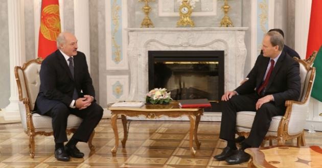 Встреча Александра Лукашенко с главой миссии МВФ по Белоруссии Питером Долманом