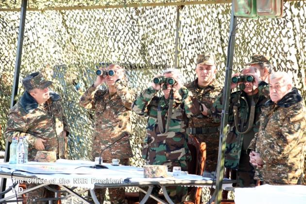 Главы Карабаха и Армении посетили подразделения Армии обороны НКР