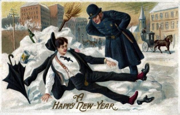 Счастливый Новый год. Открытка. 1912