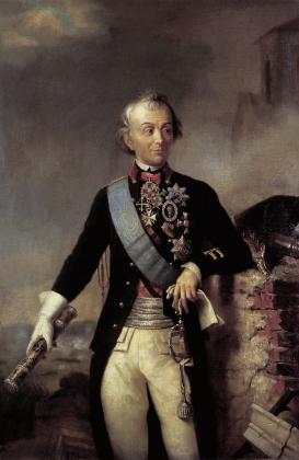 А.В. Суворов с фельдмаршальским жезлом. XIX век
