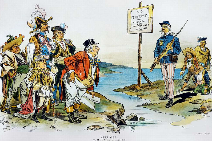 a history of the monroe doctrine Definition of the monroe doctrine, an american foreign policy statement from 1823 which had enduring consequences.