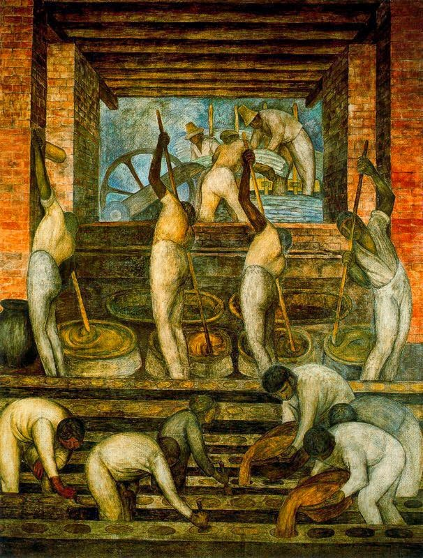Диего Ривера. Сахарный  завод. 1923