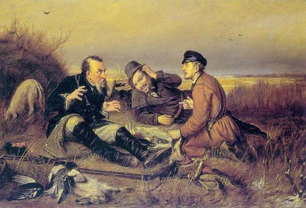 Василий Перов. Охотники на привале. 1877