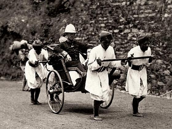 «Белый господин» в рикше