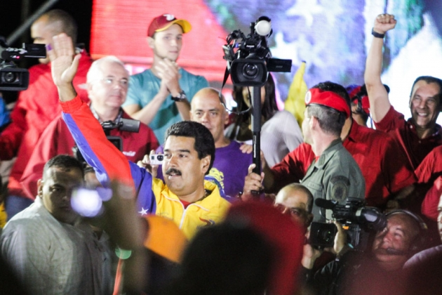 Николас Мадуро после победы на президентских выборах в Венесуэле. Апрель 2013 года
