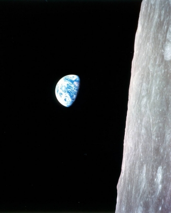 Вид с Луны в 1968 году