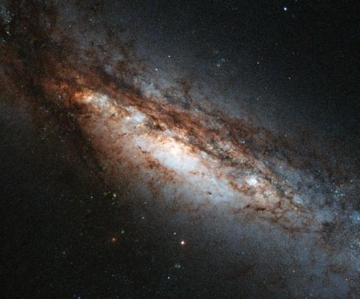 Пробудившаяся черная дыра в галактике NGC 660