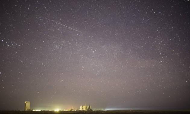 Метеоритный дождь над космодромом Байконур
