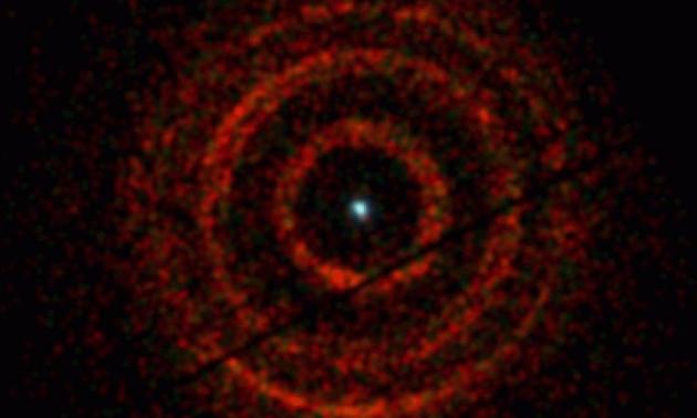 Снимок объекта V404 Лебедя, сделанный рентгеновским телескопом