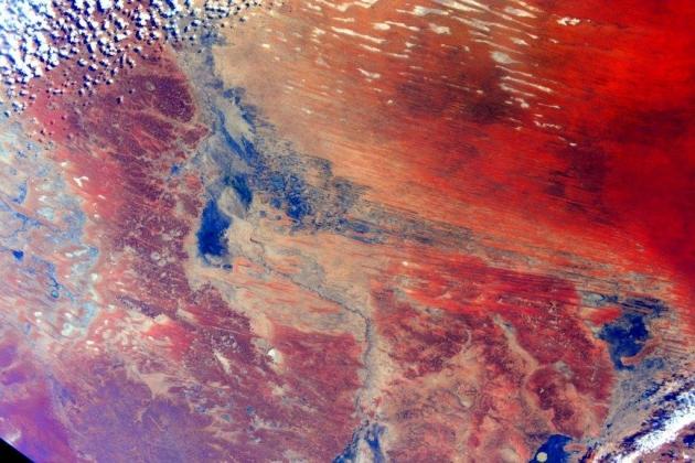 фотография Австралии, сделанная космонавтом Скоттом Келли