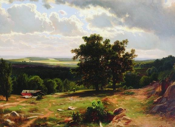 Иван Шишкин. Вид в окрестностях Дюссельдорфа 1864-1865