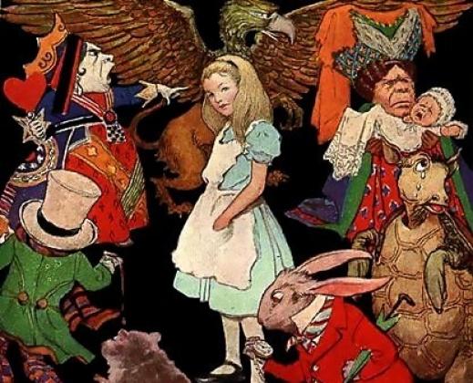 Джесси Уилкокс Смит. Алиса в окружении нескольких персонажей книги