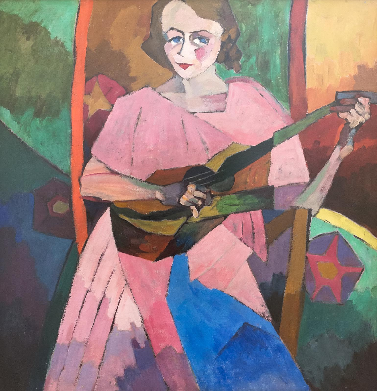Аристарх Лентулов. Дама с гитарой. 1913