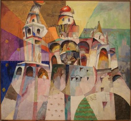 Аристарх Лентулов. Звон — колокольня Ивана Великого. 1915