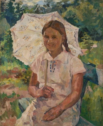 Аристарх Лентулов. Девочка с зонтиком. 1930-е