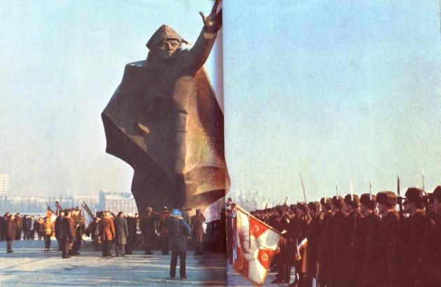 Открытие памятника Костюшковцам. 17 января 1985