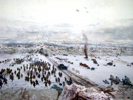 Диорама «Прорыв блокады Ленинграда» (фрагмент)