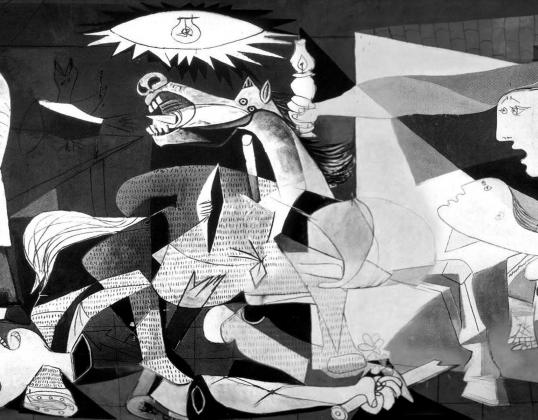 Пабло Пикассо. «Герника». 1937. Фрагмент
