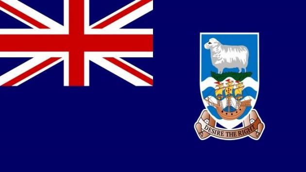 Флаг Фолклендских островов в составе Великобритании