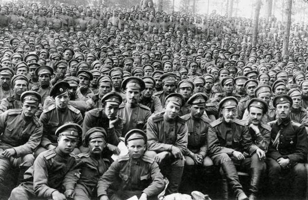 Солдаты и офицеры Русской Армии. 1916