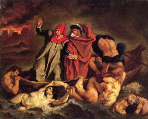 Эдуард Мане. Лодка Данте (по работе Делакруа). 1854