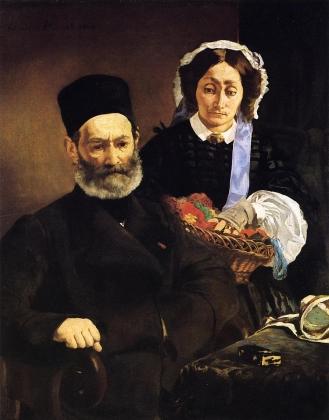 Эдуард Мане. Портрет родителей Месье и мадам Мане 1860