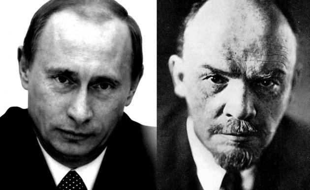 Владимир Путин и Владимир Ленин