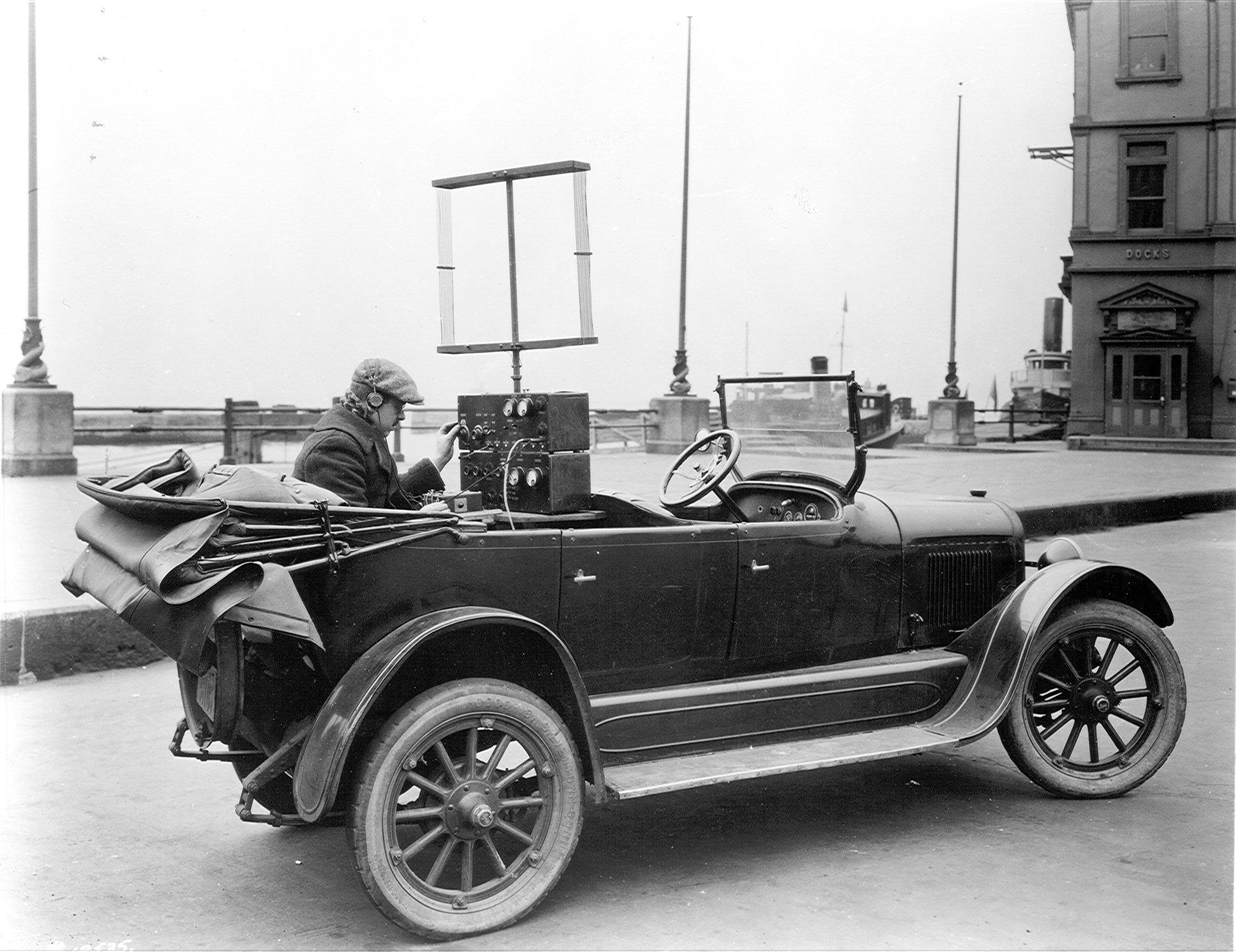 Мобильный радиотелефон. 1924