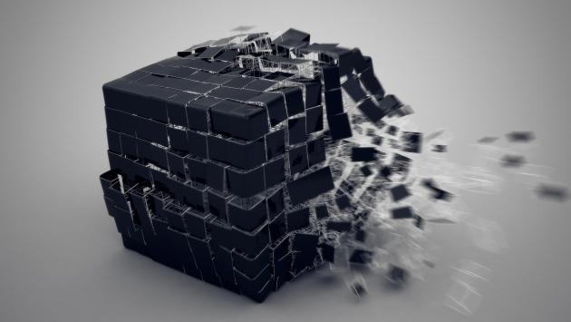 Куб рассыпается