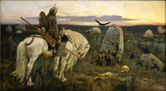 Виктор Васнецов. Витязь на распутье. 1882 г