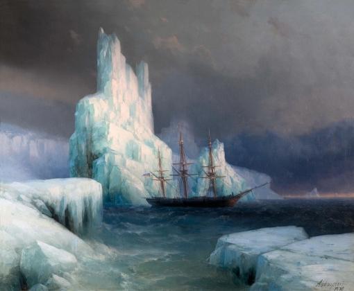 И. Айвазовский. Ледяные горы в Антарктике. 1870