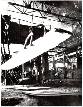 Первый броневой лист, произведенный на блюминге. Июль 1941