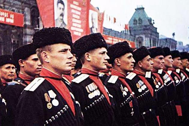 Казаки на Параде Победы в 1945 году