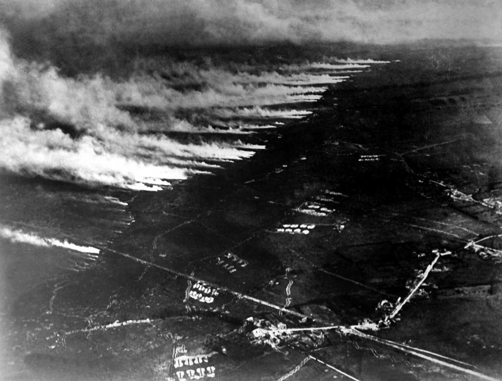 Химическая атака в Первую мировую войну