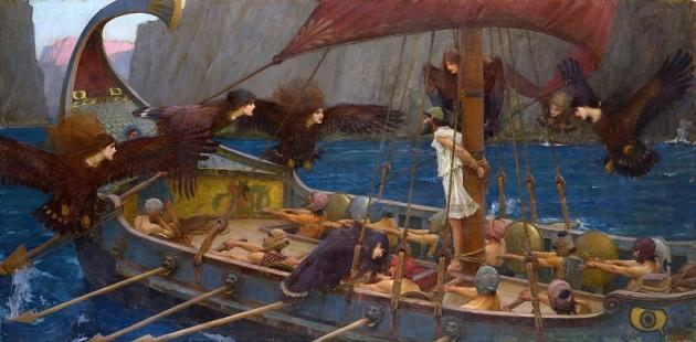 Джон Уильям Уотерхаус. Одиссей и сирены. Мельбурн, 1891 год