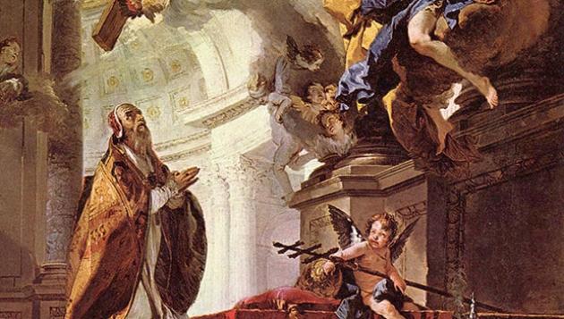 Таким папу Римского Климента, исполнившего свой подвиг в Крыму, увидел крупнейший художник итальянского барокко Джамбаттиста Тьеполо