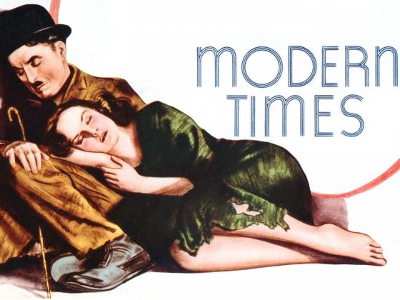 Постер фильма Чарли Чаплина  «Новые времена». 1936