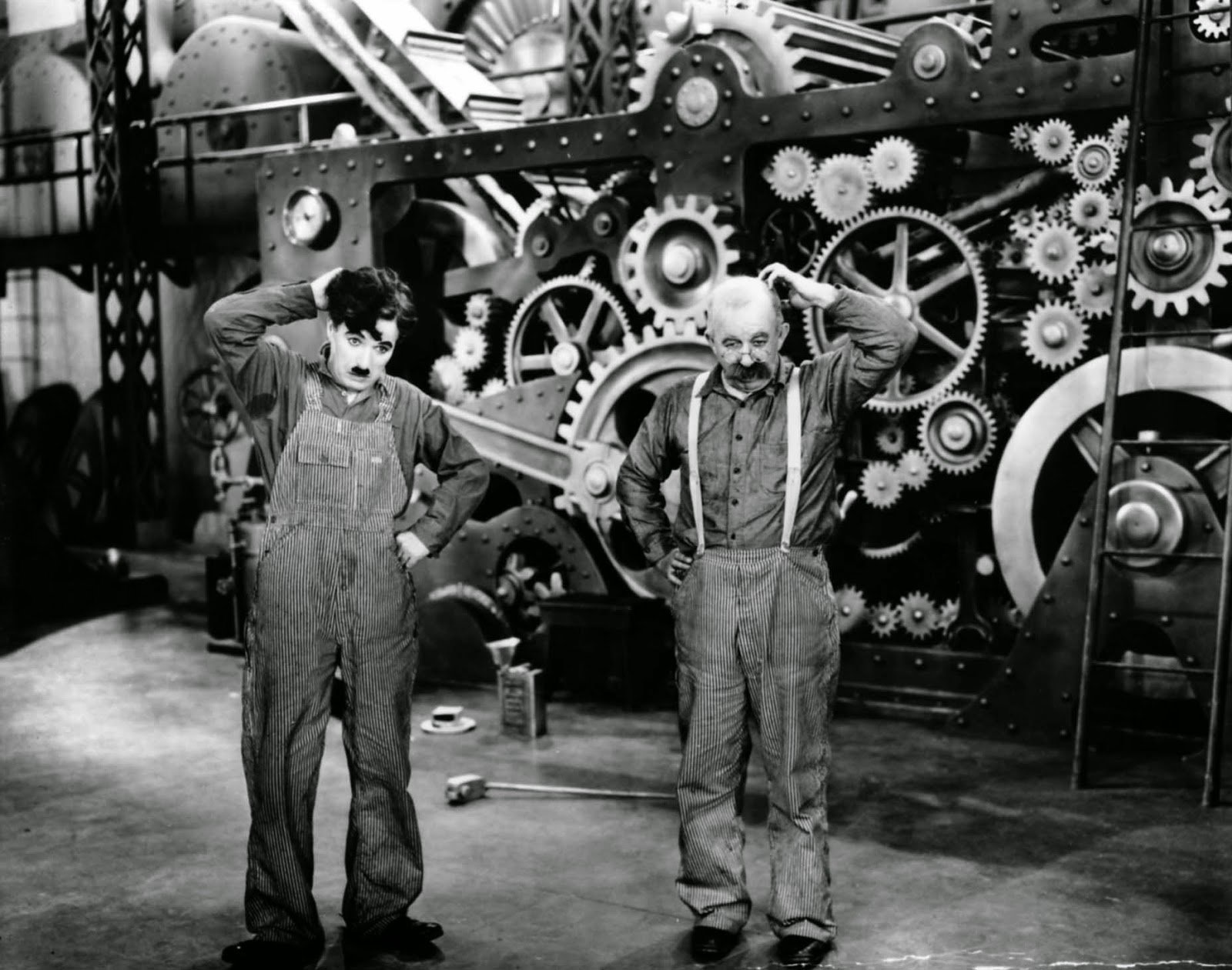 an analysis of the treatment of men in corporations in the film modern times by charlie chaplin Charlie chaplin remains one of the most beloved to hurry and send more chaplin film was the theme song chaplin wrote for modern times.
